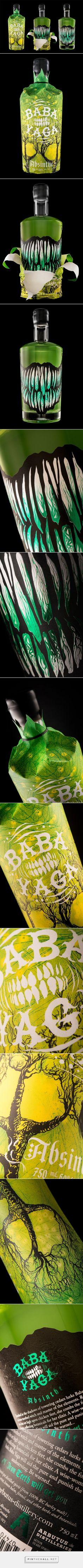 Baba Yaga #Absinthe #packaging by Hired Guns Creative - http://www.packagingoftheworld.com/2015/02/baba-yaga-absinthe.html