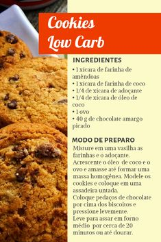Receita Bolo Low Carb, Confort Food, Low Carb Recipes, Healthy Recipes, Low Carb Diet, Coco, Food Network Recipes, Food Hacks, Chocolate