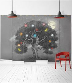Midnight Snack Wall Mural from Muffin & Mani