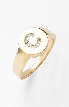 Nadri Pavé Initial Ring | Nordstrom
