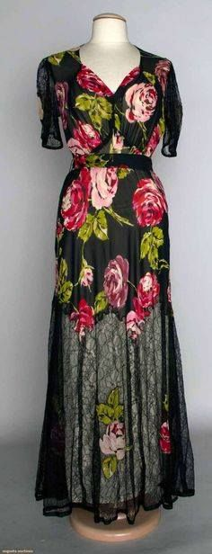 Beautiful 1930s Rose Gown