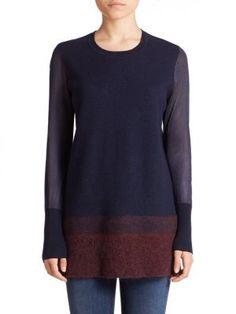 Vince - Needle-Punch Ombré Sweater