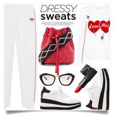 """Sweatpants"" by alaria ❤ liked on Polyvore featuring Zoe Karssen, Miu Miu, STELLA McCARTNEY, Les Petits Joueurs, NARS Cosmetics and sweatpants"