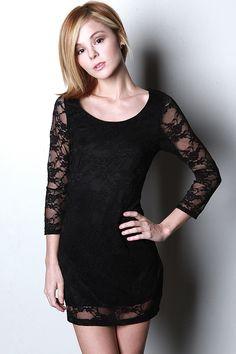 LBD: Lace Black Dress
