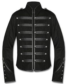 Banned Clothing Black Parade Steampunk Gothic Emo Military Drummer Band Jacket Fully lined unisex cotton military jacket inspired by My Chemical Romance's