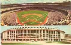 Vintage-Missouri-Chrome-Postcard-St-Louis-Busch-Memorial-Stadium-Baseball