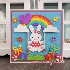 Baby Bunnies, Bunny, New Home Cards, Marianne Design, Kids Cards, Making Ideas, Toy Chest, Cardmaking, Paper Crafts