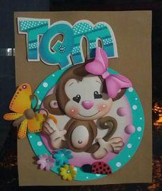 Monita foamy Foam Crafts, Diy And Crafts, Paper Crafts, Paper Book, Paper Art, Valentine Baskets, Decorate Notebook, Ideas Para Fiestas, Happy Kids