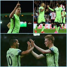 The four scorers! Well done guys! Still to go! Lets go City! Sergio Aguero, Never Give Up, Let It Be, Raheem Sterling, English Premier League, The Four, Manchester City, Letting Go, Wellness