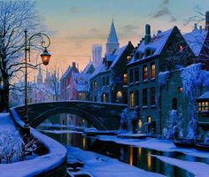 Fascinating winter evening in Brugge, Belgium <3