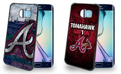 Atlanta Braves Cell Phone Hard Case TWO PACK for Samsung Galaxy S6, Samsung Galaxy S6 Edge