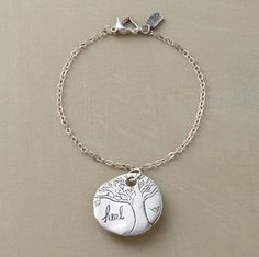 """Jes MaHarry's """"heal"""" charm is a cherished reminder to """"be brave and have courage."""" The bracelet is handmade in USA with a heart-shaped lobster clasp. 7-1/4""""L. @Courtney Rawson...this reminded me of u!"""