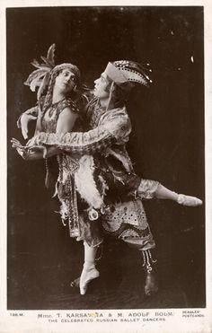 Ballets Russes....Tamara Karsavina and Adolf Bolm.