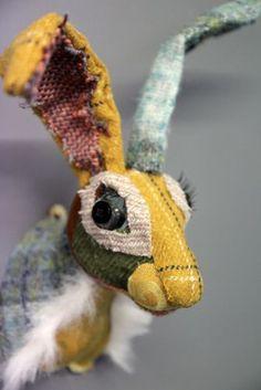 Patchwork Hare Head  Magnifique lapin. Plutôt pour adulte comme déco.
