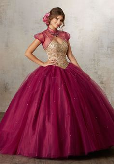 Morilee Quinceanera Dresses  STYLE NUMBER: 89133 Jeweled Beading on a Tulle Ballgown  A Stunning Sweetheart Bodice Intricately Beaded with Jewel Details Adds a Modern Touch to This Classic Quinceañera Ballgown. Matching Bolero Jacket Included. Corset Back. Colors Available: Black Cherry/Gold, White/Gold, Navy/Gold.