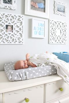 Nursery @tiffanie VanZuyen Orr  this would work with the dresser you have for a changing table!