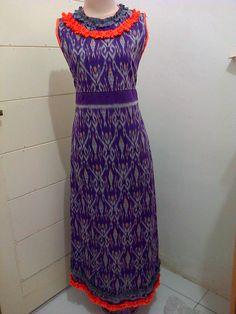 Batik Dress tanpa lengan