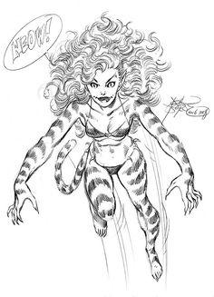 1988 - Tigra by John Byrne Comic Book Artists, Comic Book Characters, Comic Books Art, Comic Art, Comic Character, Tigra Marvel, Marvel Art, Marvel Heroes, Kung Fu Panda
