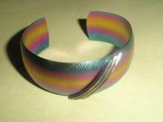 Vintage Rainbow Metal Bangle
