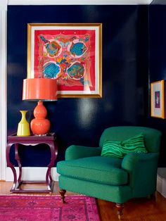 [CasaGiardino] ♛ A New Jersey Victorian finds brilliant new life in the hands of BHDM Design. Design Entrée, House Design, Interior Design, Design Ideas, Living Room Green, Living Room Decor, Green Armchair, Best Leather Sofa, Arquitetura