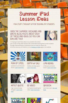 Summer iPad Lesson iDeas from the incomparable Fuglefun!