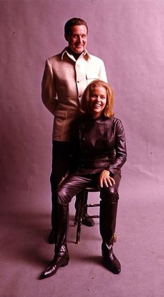 Steed and Cathy Gale, The Avengers.