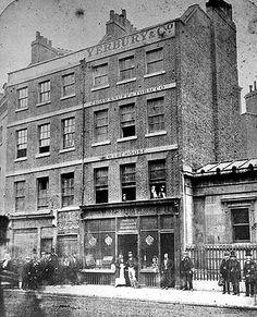 Yerbury & Co, 114 Bishopsgate, City of London, 1862. Tobacco warehouse and shop