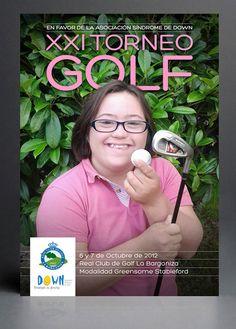 Cartel para el XXI Torneo de Golf Sindrome de Down