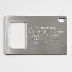 andy ideas - personalized bottle opener - fits in your wallet