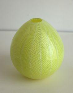 """Pear Blossom"" Hand-blown Glass Vase"