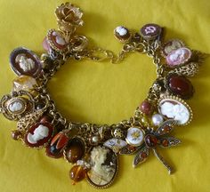 one-of-a-kind bracelet made using cameos and other vintage jewelry, $255.00.