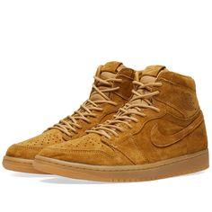 Nike Air Jordan 1 Retro High Og 'winter Wheat' In Brown Air Max Sneakers, High Top Sneakers, Sneakers Nike, Brown Suede, Jordan 1, Men's Shoes, High Tops, Running Shoes, Air Jordans