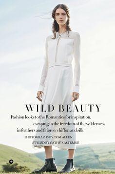 """""""Wild Beauty"""" Josephine Van Delden in Hugo Boss for Harper's Bazaar UK September 2014 by Tom Allen"""