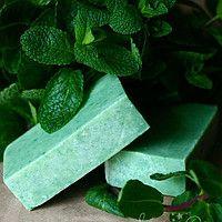 Мыло Мята натуральное растительное, ручной работы