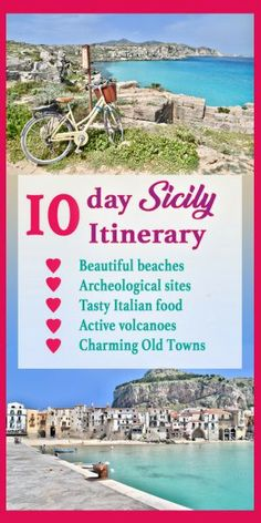 The Ultimate 10 day Sicily Itinerary! Sicily, Italy, is such a beautiful Ital. Cinque Terre, Sicily Italy, Trapani Sicily, Rome Italy, Noto Sicily, Cefalu Sicily, Catania Sicily, Taormina Sicily, Siena Italy