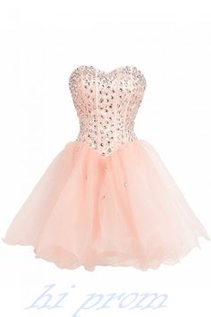 Homecoming Dress,Blush Pink Prom Dresses,Tulle Homecoming Gowns,White Party Dress,Short Prom Gown,Lilac Cocktail Dress,Beading Homecoming Dresses 2015 For Teens