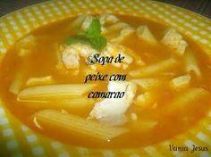 Receitas - Sopa de peixe com camarão - Petiscos.com