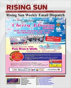 Rising Sun Weekly Email Dispatch for the week of March 27, 2017 (Volume 3, Number 4)  Weekly Newsletter