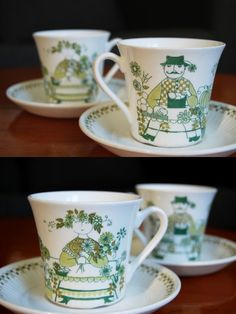 Figgjo Flint Market design coffee cups set of 2. by UkiDukiVintage, $25.00