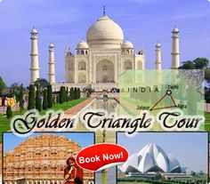 Golden Traingle Tour is the most popular tour in North india. It gives you a chance to visit Delhi, Agra and Jaipur.The tour Provides you a Visit to the First and the Most beautiful Monument Designed for Love THE TAJMAHAL  More over included into this tour is the World Heritage site The Wind Palace of jaipur. The City is Equally known as Pinkcity.