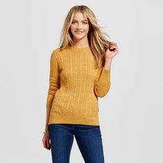 Women's Pullover Sweaters - Merona Pharaoh Gold Xxl