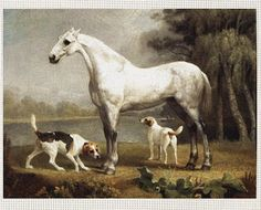 Dapple Grey with Two Dog Friends by George Stubbs