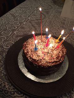 My birthday cake made by my Mummykins 🎂 My Birthday Cake, Birthday Candles, Food Pics, Food Pictures, Tasty Dishes, I Love Food, How To Make Cake, I Foods