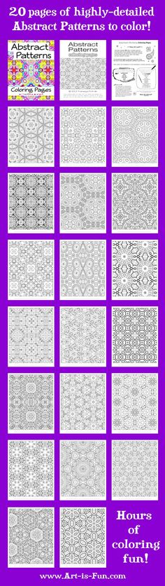 Abstract Patterns Coloring Pages: Printable E-Book of Detailed Patterns to Color