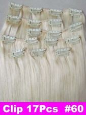 """Factory Outlet Price 28"""" Human Hair 21pcs Clips In Extensions 8Pcs 140g #60"""