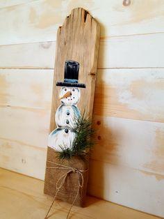 SNOWMAN PAINTINGRustic Snowman DecorPrimitive SnowmanRustic