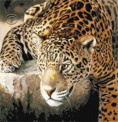 On the rocks - leopard cross stitch kit | Yiotas XStitch