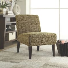Leopard Print Accent Chair - A Collection by Anglina - Favorave