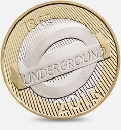 London Underground 150th Anniversary - The Roundel. 2013  http://www.royalmint.com/discover/uk-coins/coin-design-and-specifications/two-pound-coin/2013-underground-roundel