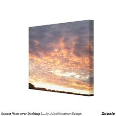 Sunset View over Dorking Summer 2016 Canvas Stretched Canvas Prints
